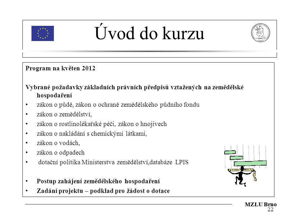 Úvod do kurzu Program na květen 2012