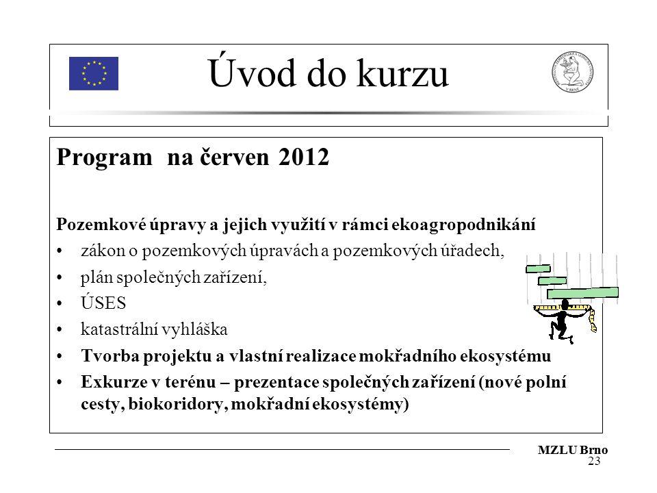 Úvod do kurzu Program na červen 2012