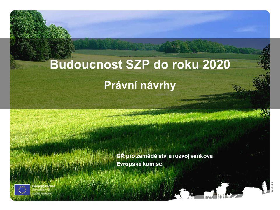 Budoucnost SZP do roku 2020 Právní návrhy