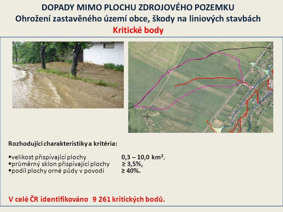 V celé ČR identifikováno 9 261 kritických bodů.