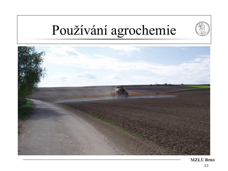 Používání agrochemie