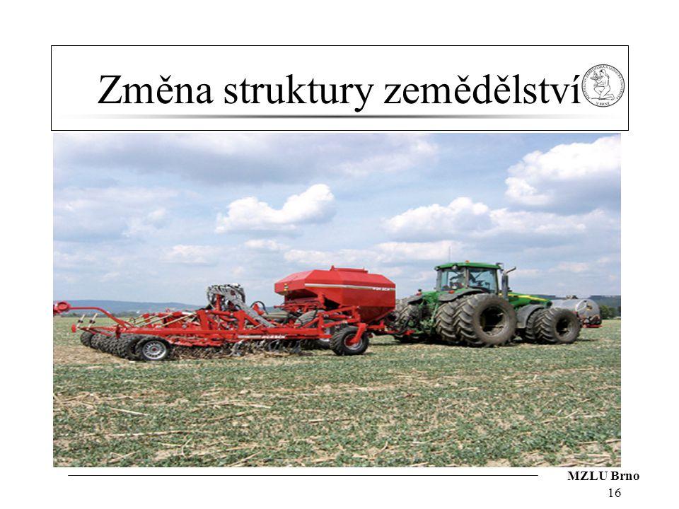 Změna struktury zemědělství