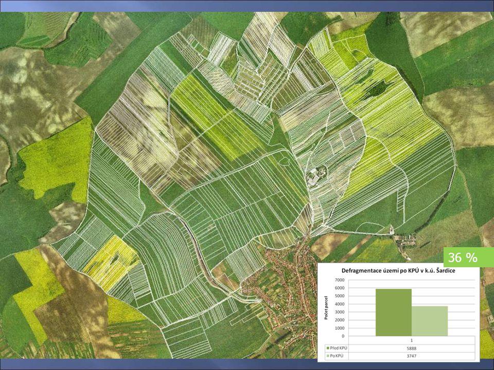 Návrh rozmístění jednotlivých parcel