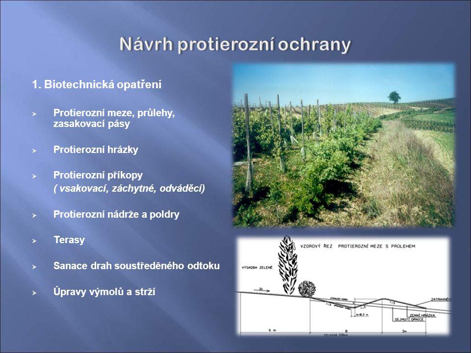1. Biotechnická opatření