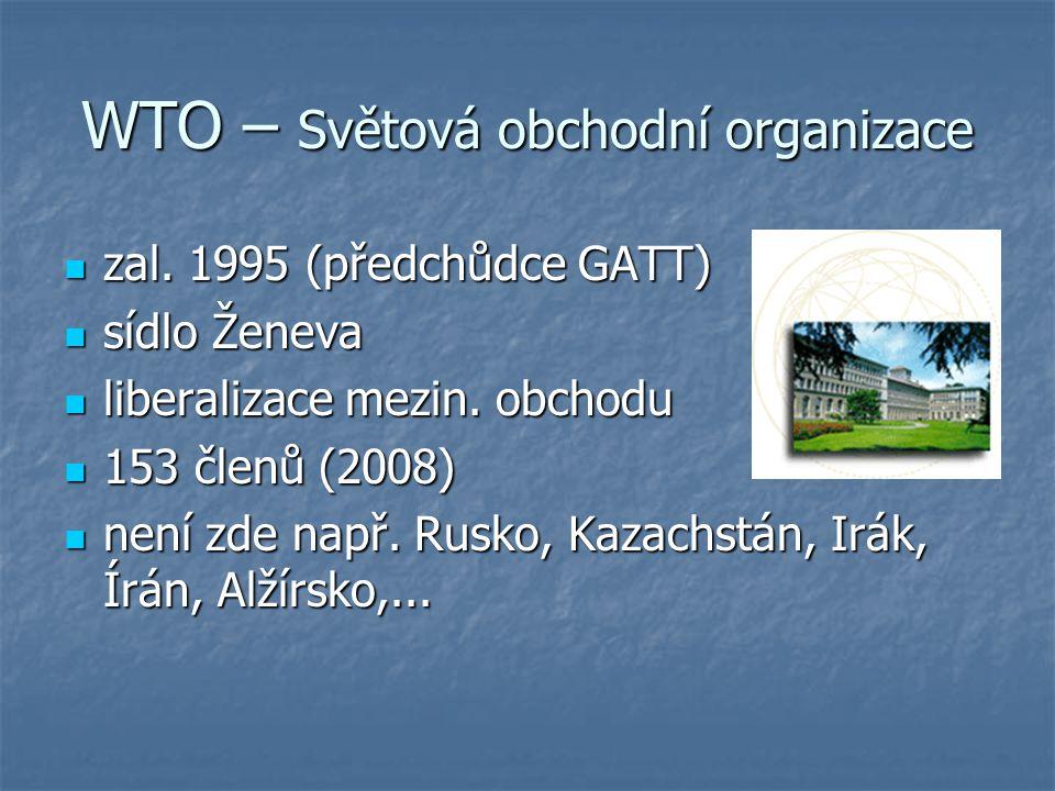 WTO – Světová obchodní organizace