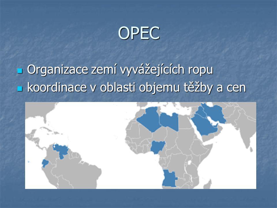OPEC Organizace zemí vyvážejících ropu