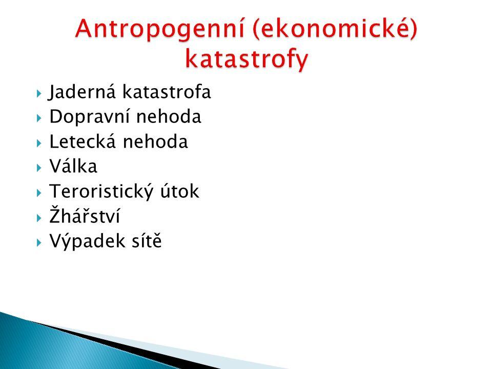 Antropogenní (ekonomické) katastrofy