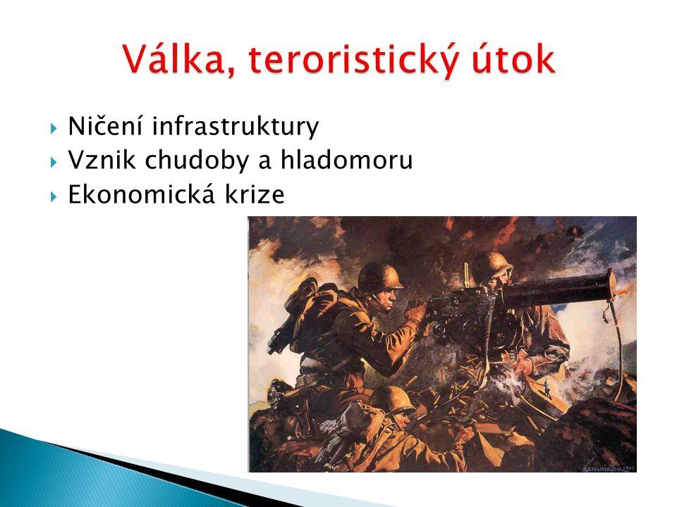 Válka, teroristický útok