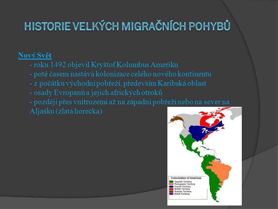 historie velkých migračních pohybů