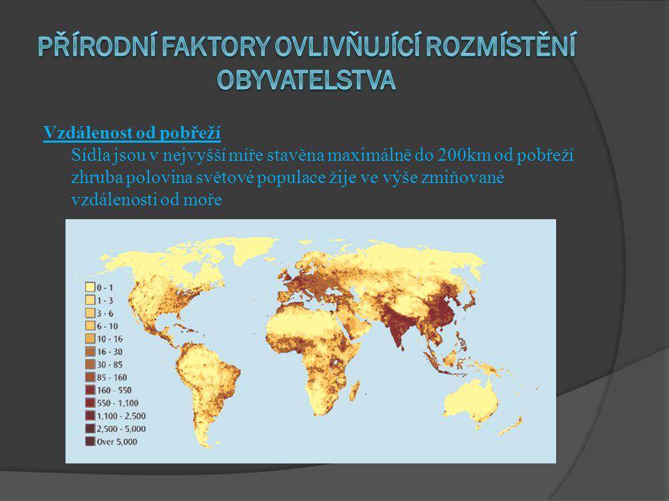 Přírodní faktory ovlivňující rozmístění obyvatelstva