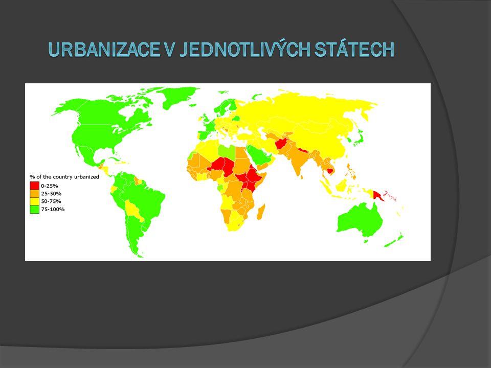 Urbanizace v jednotlivých státech