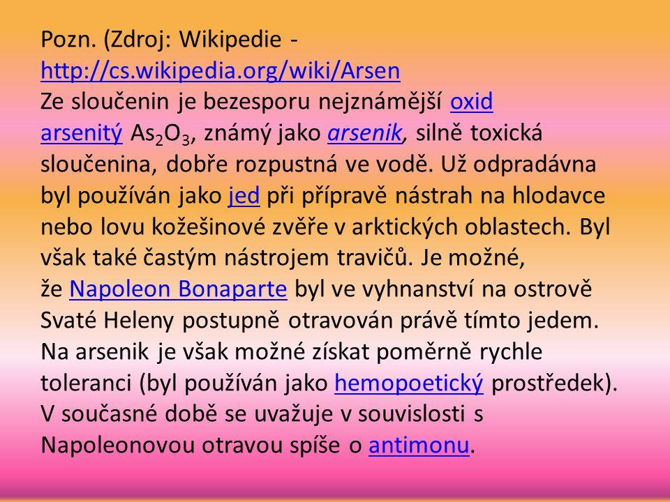 Pozn. (Zdroj: Wikipedie - http://cs. wikipedia
