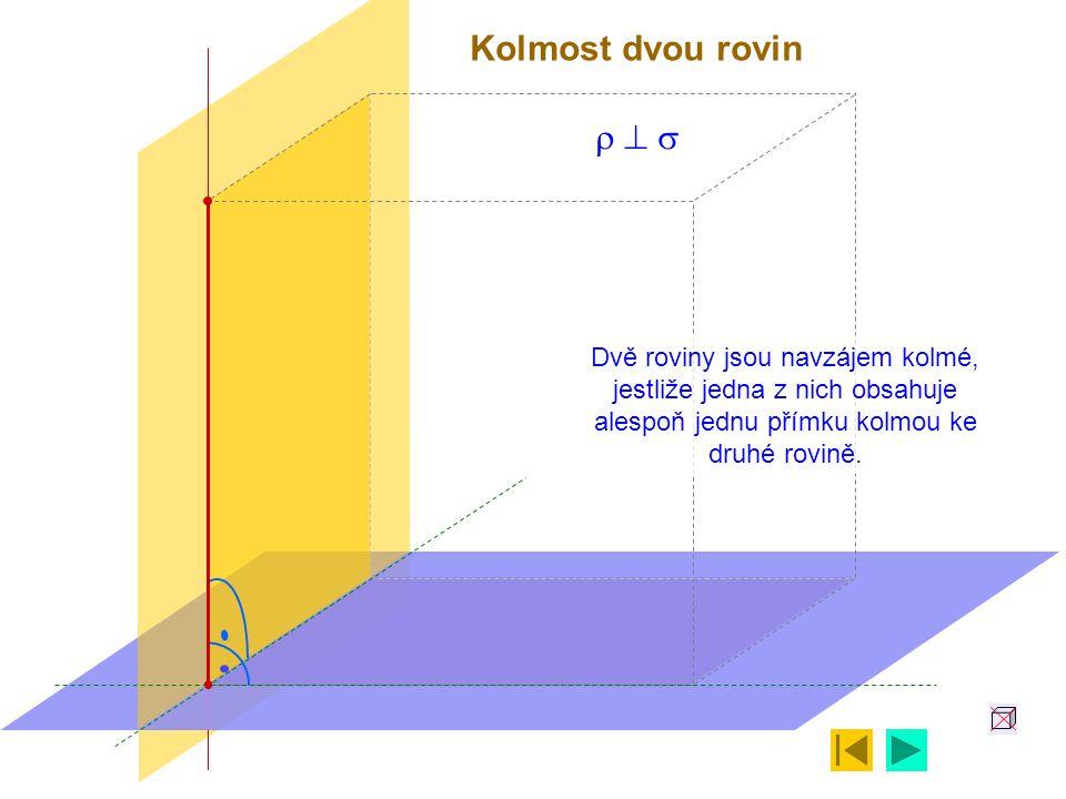 Kolmost dvou rovin r ^ s.