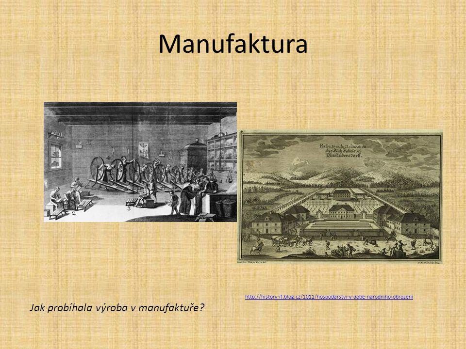 Manufaktura Jak probíhala výroba v manufaktuře