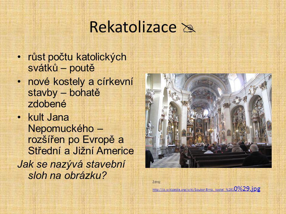 Rekatolizace  růst počtu katolických svátků – poutě