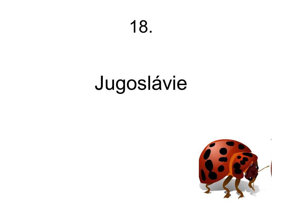 18. Jugoslávie