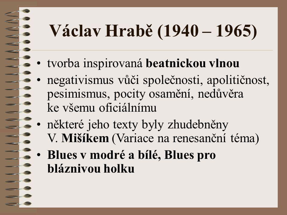 Václav Hrabě (1940 – 1965) tvorba inspirovaná beatnickou vlnou