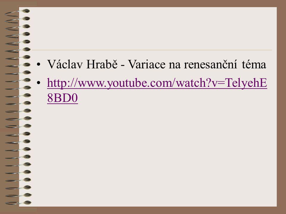Václav Hrabě - Variace na renesanční téma