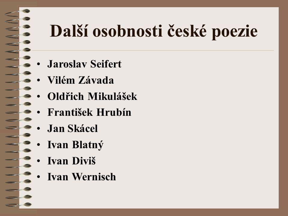 Další osobnosti české poezie