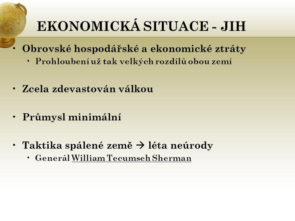 EKONOMICKÁ SITUACE - JIH
