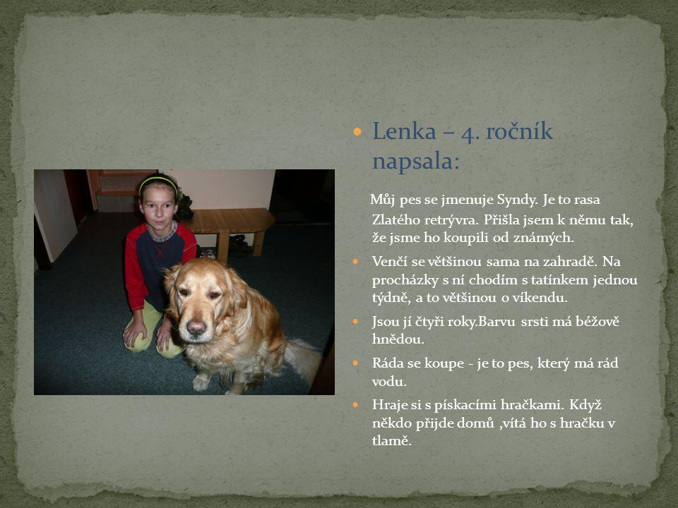 Lenka – 4. ročník napsala: