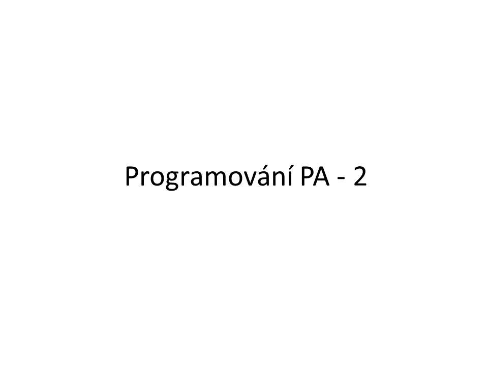 Programování PA - 2