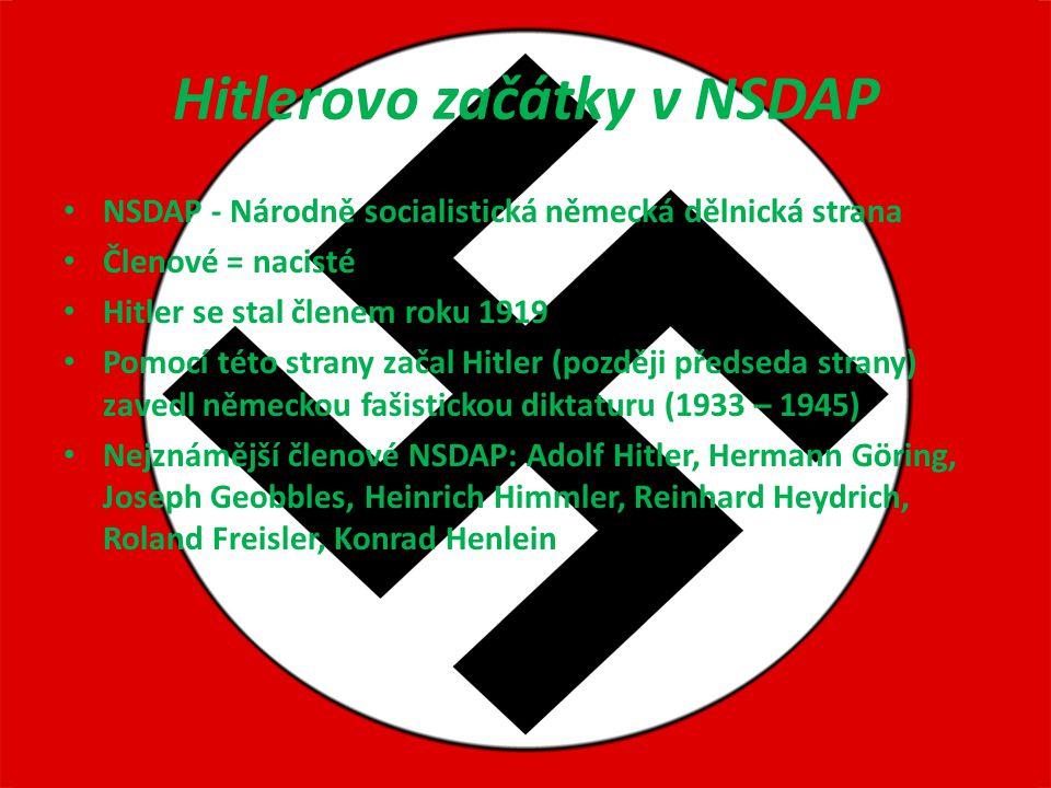 Hitlerovo začátky v NSDAP
