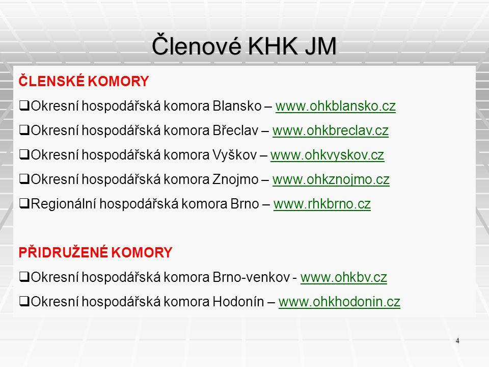 Členové KHK JM ČLENSKÉ KOMORY