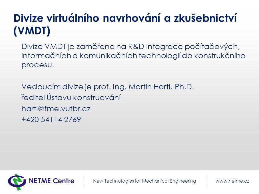 Divize virtuálního navrhování a zkušebnictví (VMDT)