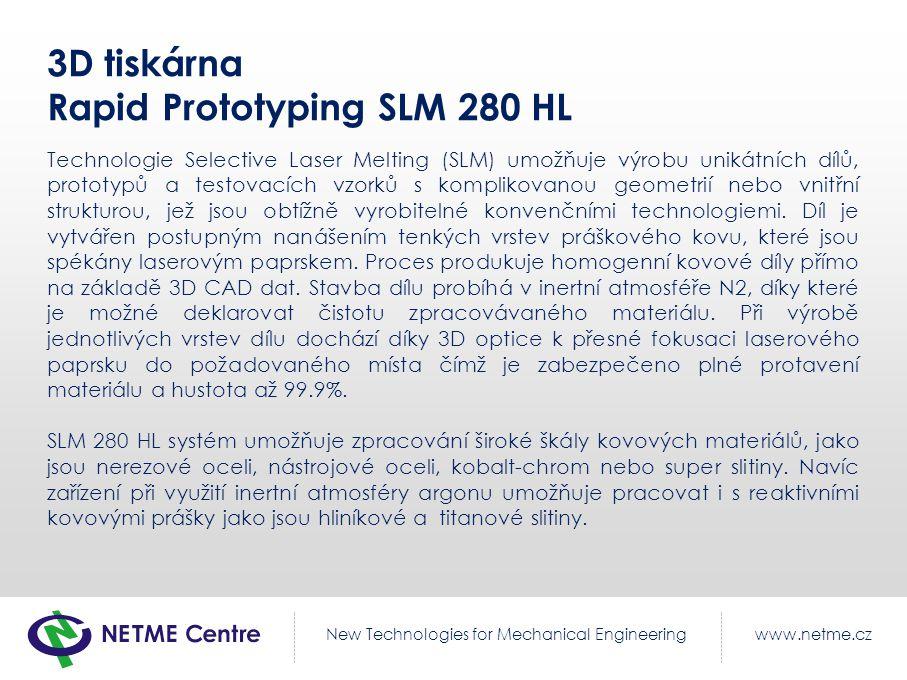 3D tiskárna Rapid Prototyping SLM 280 HL
