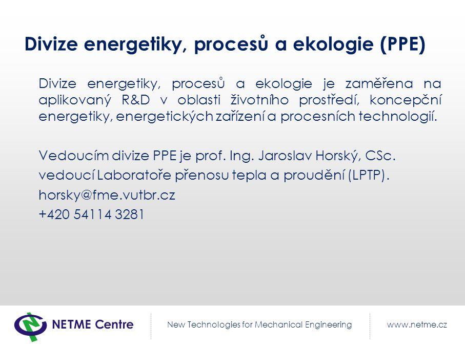 Divize energetiky, procesů a ekologie (PPE)