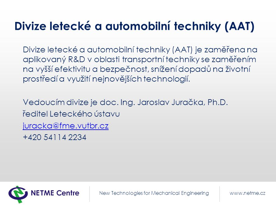Divize letecké a automobilní techniky (AAT)