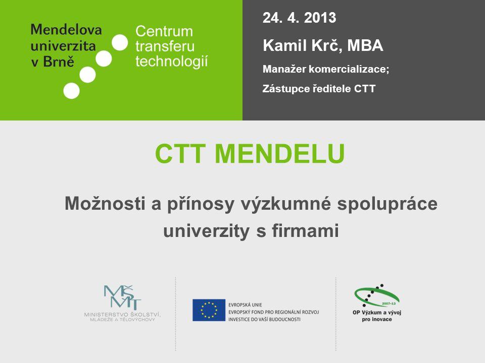 Možnosti a přínosy výzkumné spolupráce univerzity s firmami