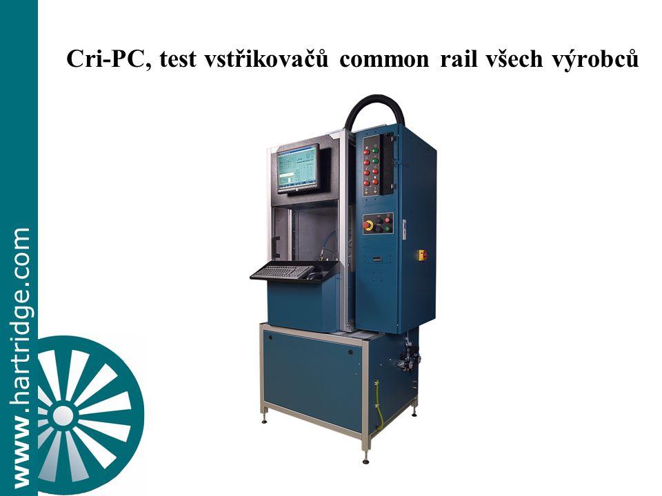Cri-PC, test vstřikovačů common rail všech výrobců