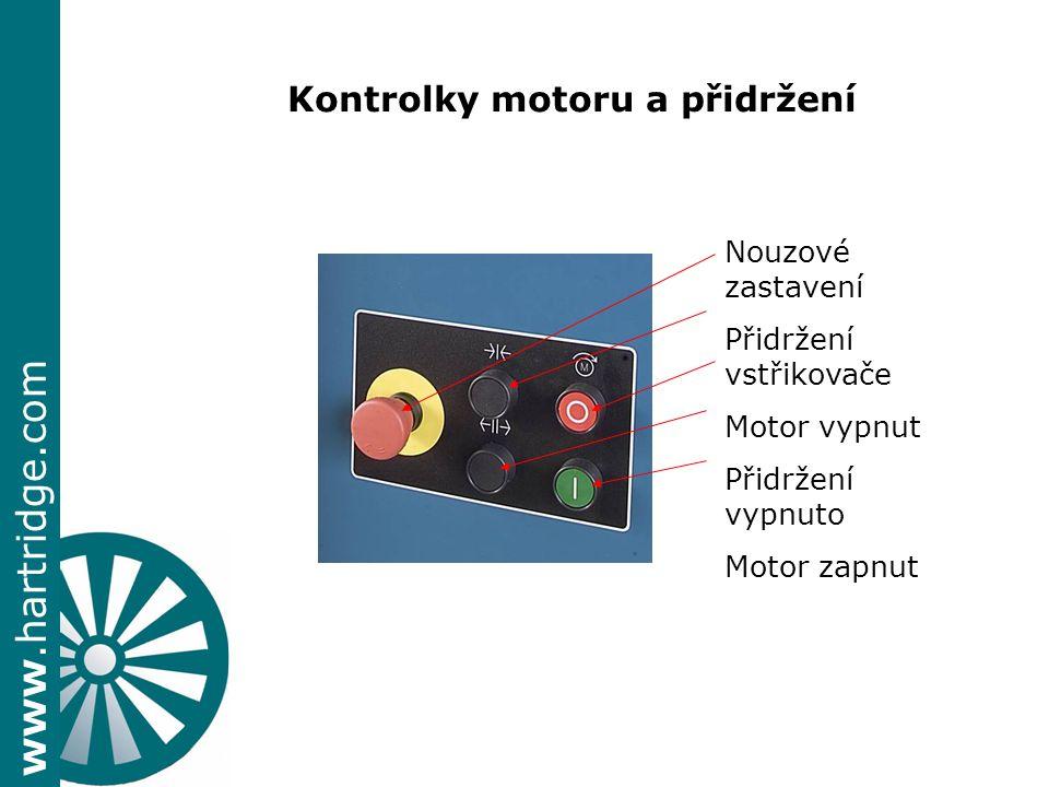 Kontrolky motoru a přidržení