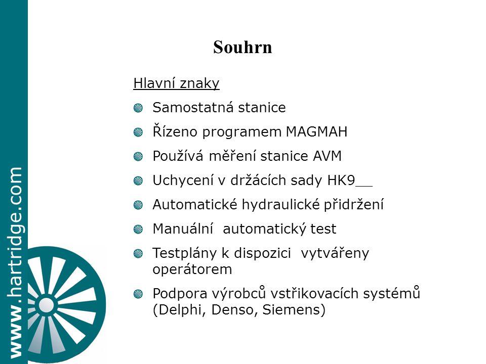 Souhrn Hlavní znaky Samostatná stanice Řízeno programem MAGMAH