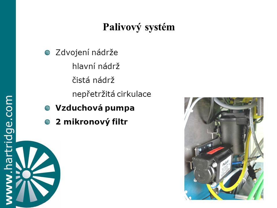 Palivový systém + Zdvojení nádrže hlavní nádrž čistá nádrž