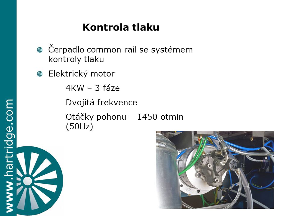 Kontrola tlaku + Čerpadlo common rail se systémem kontroly tlaku