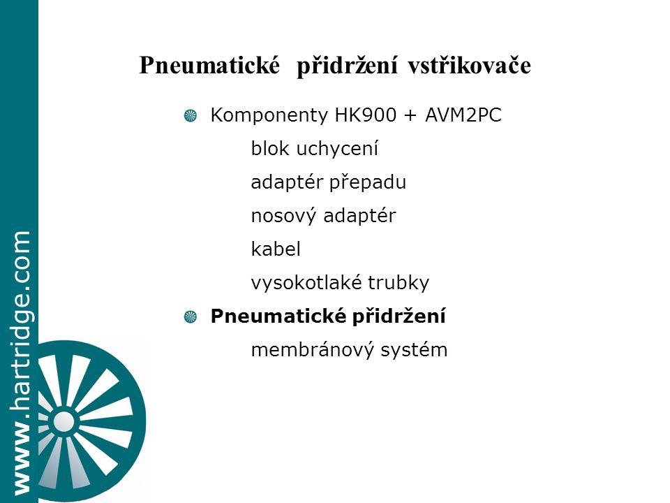 Pneumatické přidržení vstřikovače
