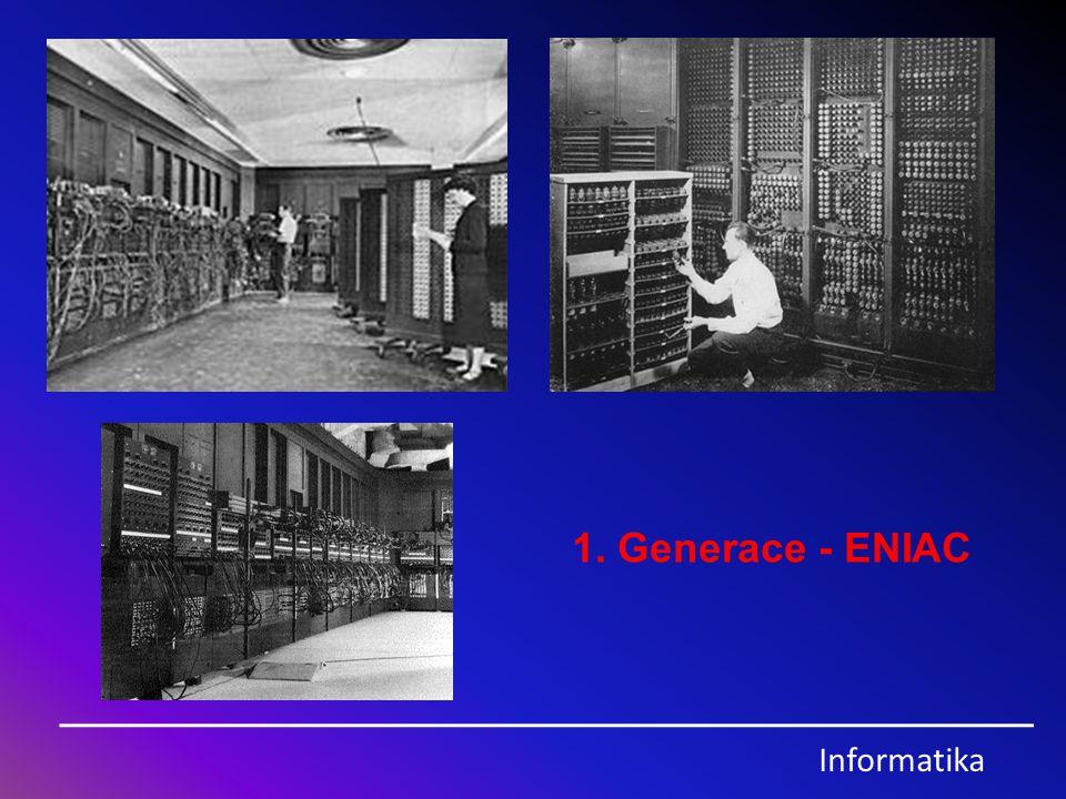 1. Generace - ENIAC