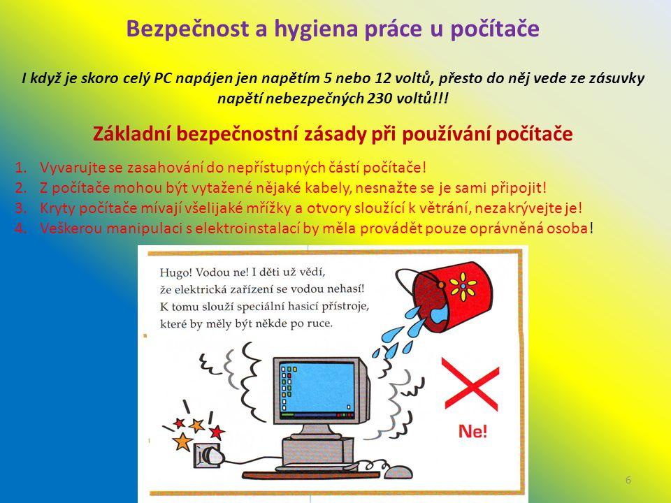 Bezpečnost a hygiena práce u počítače