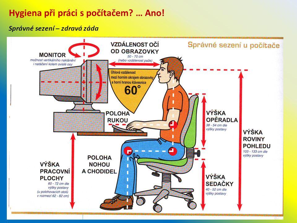 Hygiena při práci s počítačem … Ano!