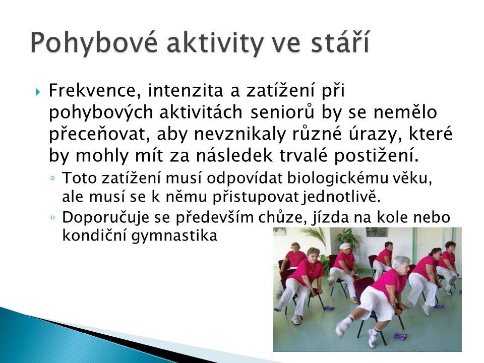 Pohybové aktivity ve stáří