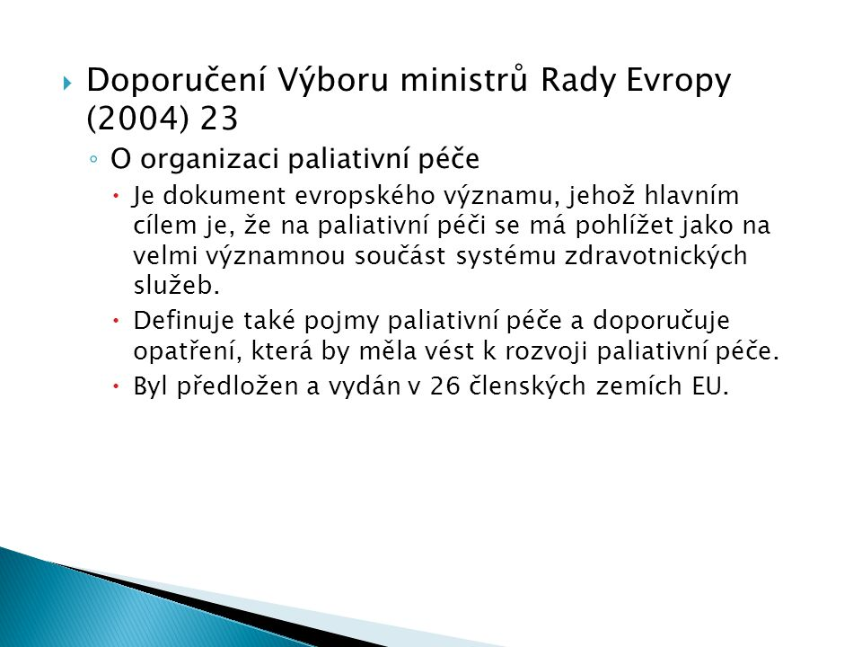Doporučení Výboru ministrů Rady Evropy (2004) 23