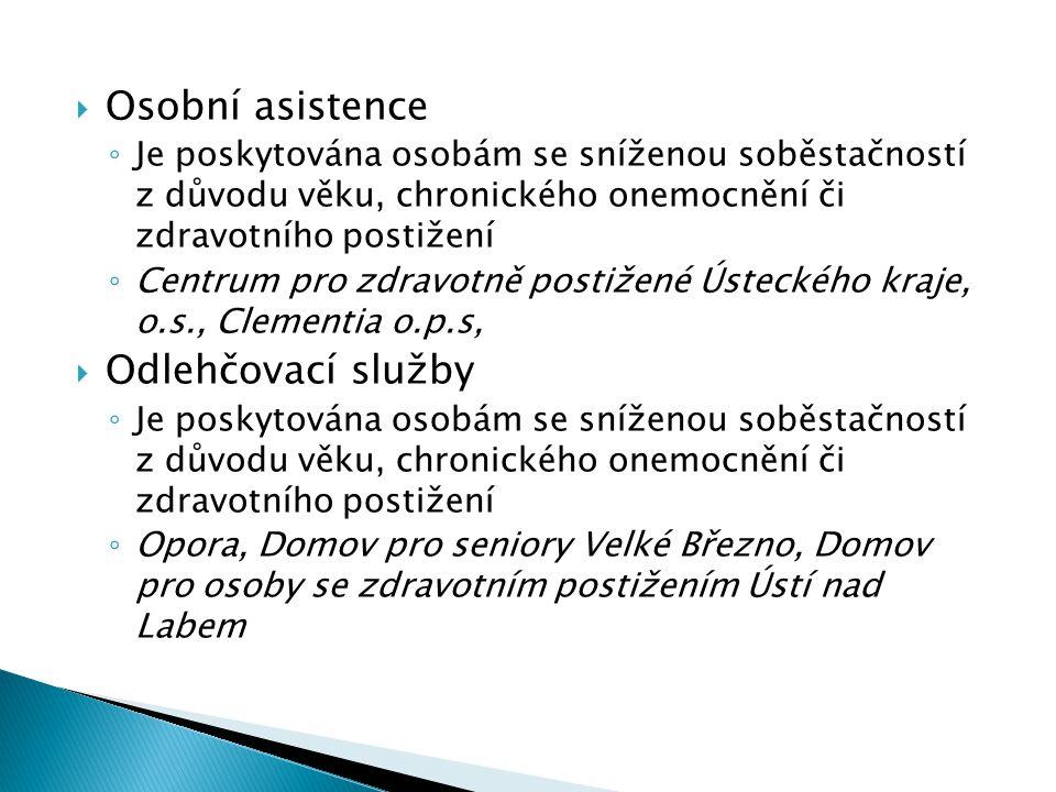 Osobní asistence Odlehčovací služby