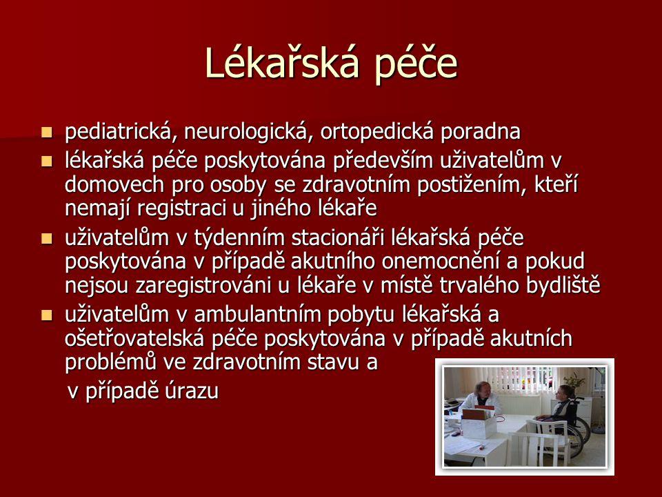 Lékařská péče pediatrická, neurologická, ortopedická poradna