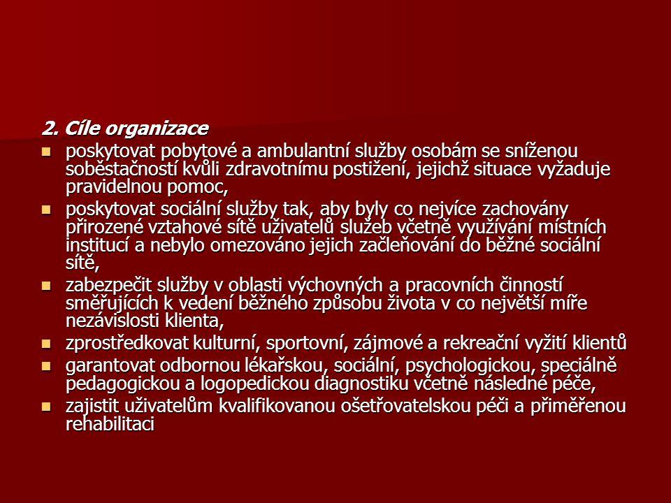2. Cíle organizace