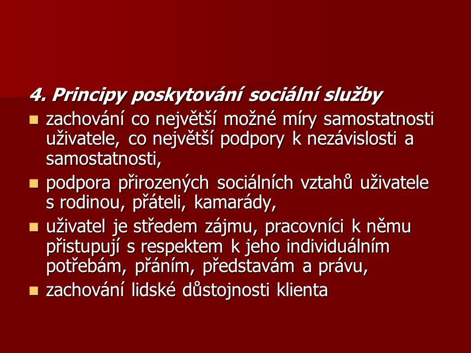 4. Principy poskytování sociální služby