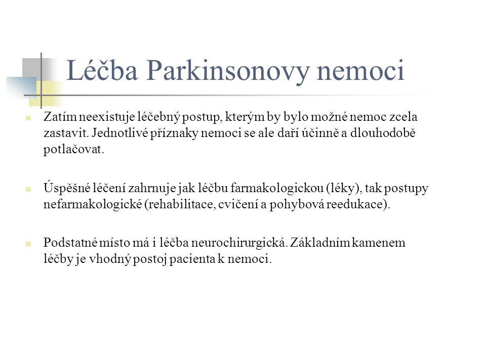 Léčba Parkinsonovy nemoci