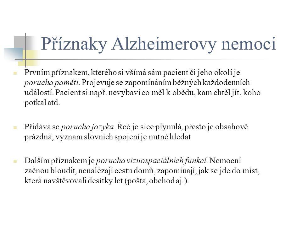 Příznaky Alzheimerovy nemoci
